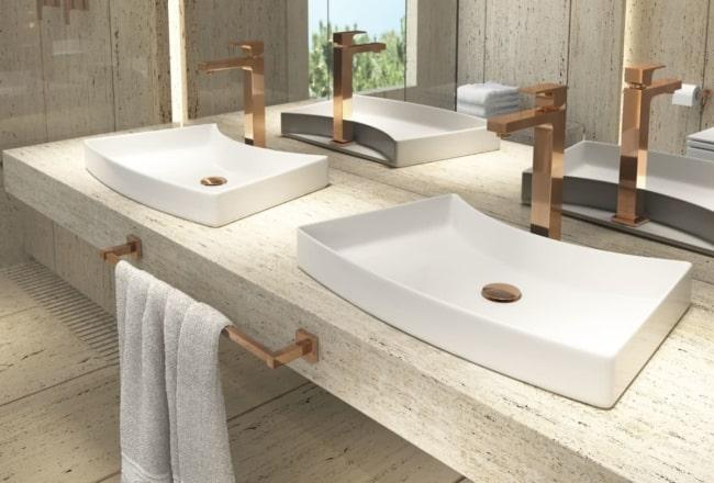 linda Pia de banheiro moderna