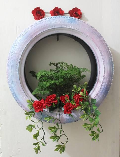 linda floreira de pneu