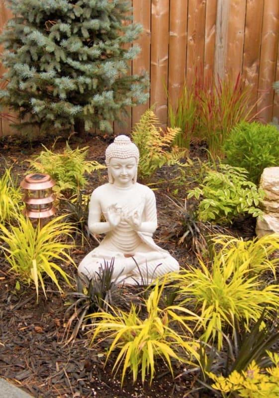 lindo mini jardim zen