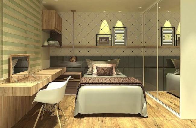 lindo quarto de solteiro planejado feminino