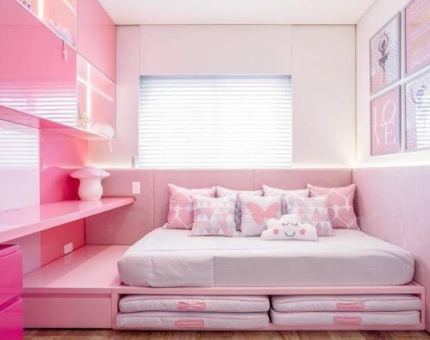 lindo quarto infantil planejado feminino decorado