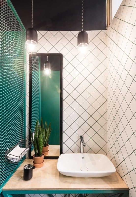 luminária de teto banheiro