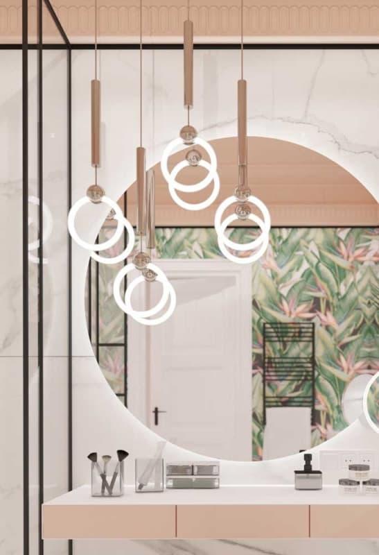 luminária de teto em banheiros