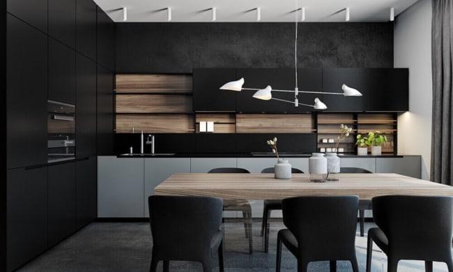 luminária de teto em cozinhas