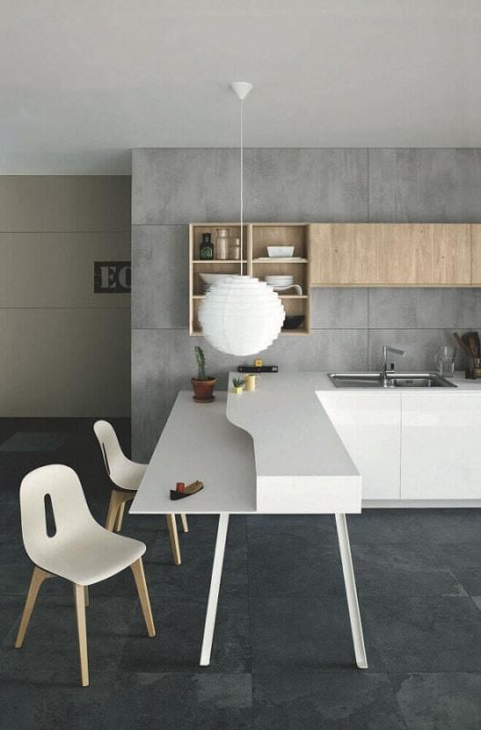 luminária de teto na cozinha moderna