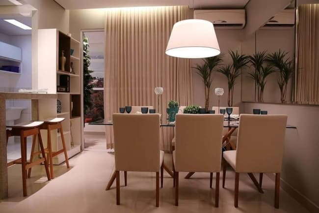luminária de teto na sala de estar