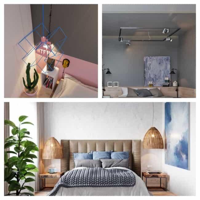 luminária de teto no quarto 1