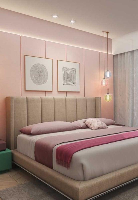 luminária de teto no quarto de casal