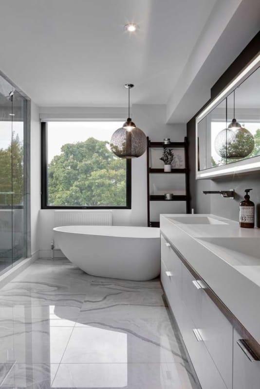 luminária de teto para banheiro moderno
