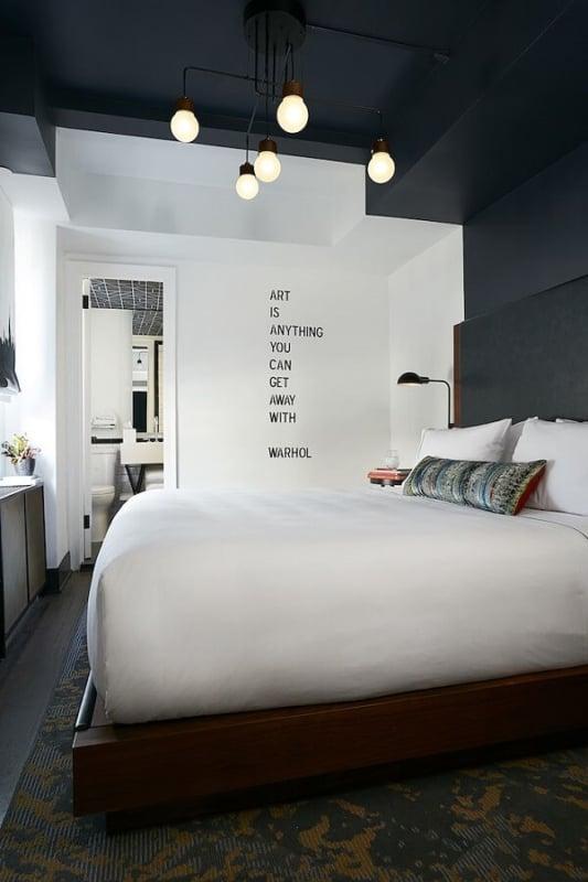 luminária de teto para quarto moderno