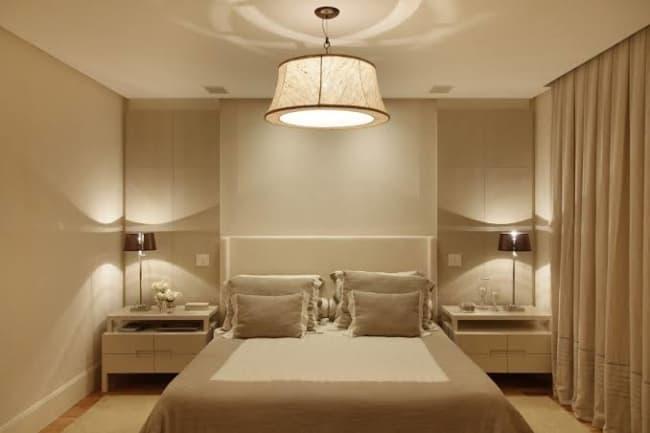 luminária simples para quarto