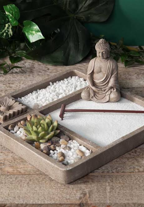 mini jardim zen ideias