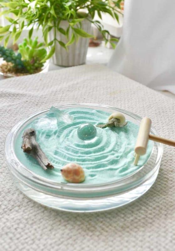 mini jardim zen para mesa