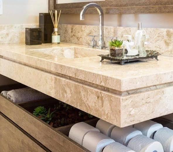 modelo de Pia de mármore para banheiro