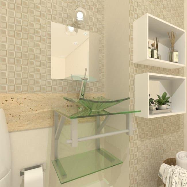 modelos de pia de banheiro de vidro