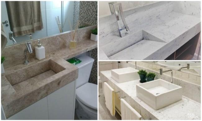 modelos de pias de mármore 4