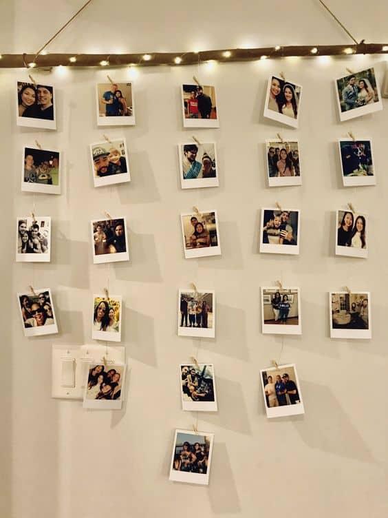 modelos de varal de fotos polaroid