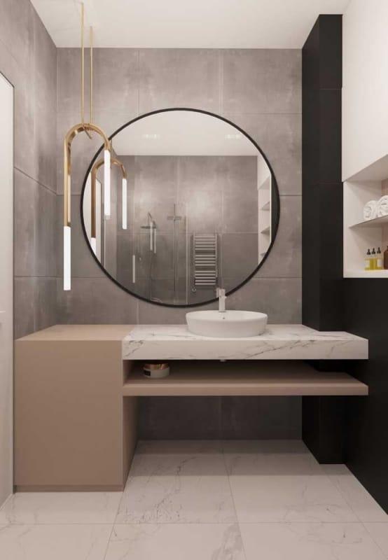 pendente e luminária de teto para banheiro