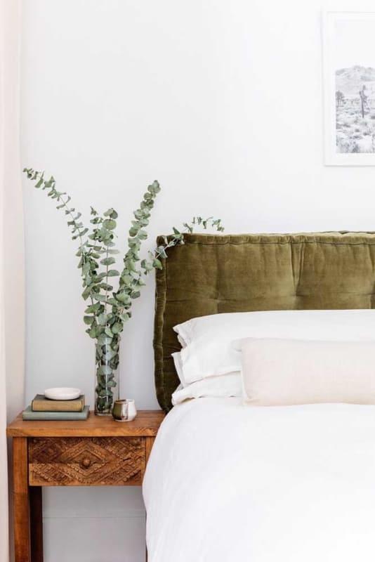 quarto com verde musgo