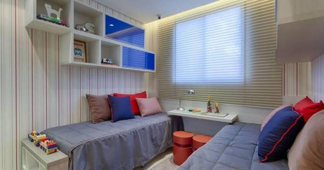 quarto de solteiro planejado com duas camas ideias