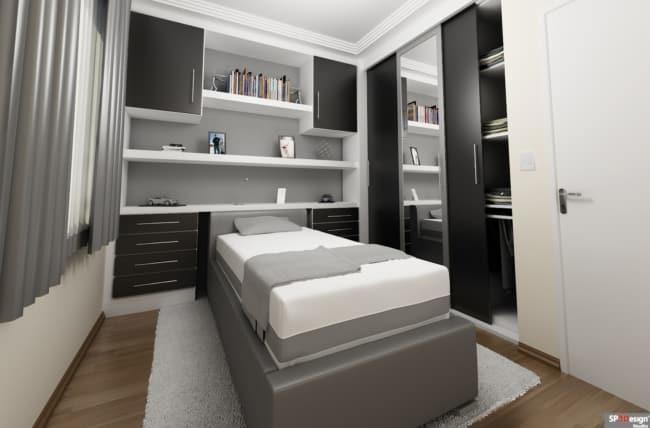 quarto de solteiro planejado pequeno 1