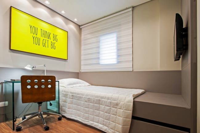 quarto de solteiro planejado pequeno simples 1