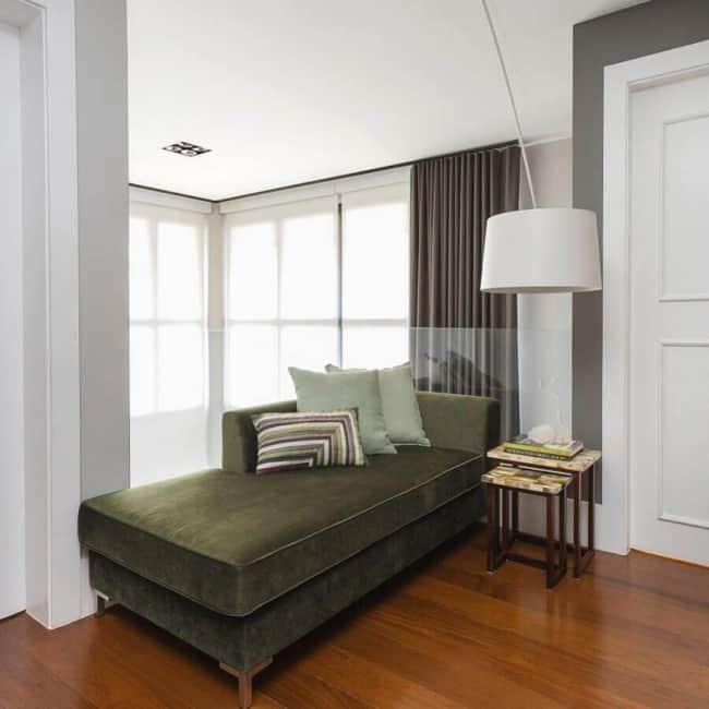 quarto decorado verde musgo