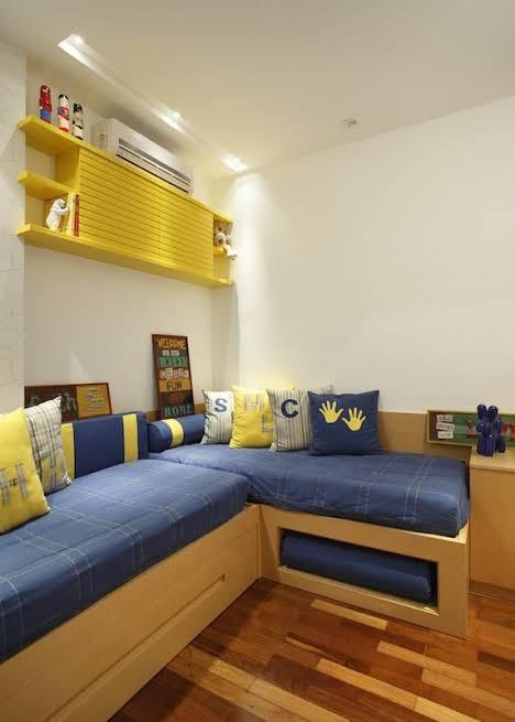 quarto infantil planejado com duas camas ideias