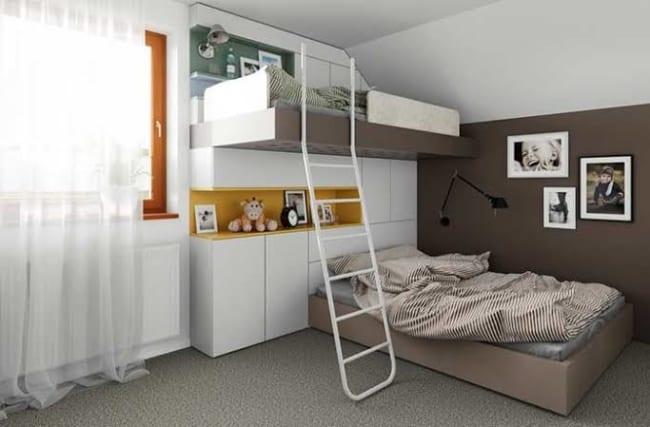 quarto infantil planejado com duas camas sofisticado
