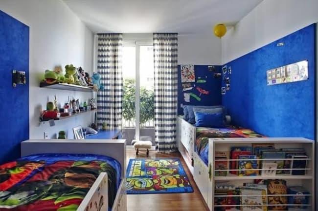 quarto infantil planejado com duas camas todo decorado