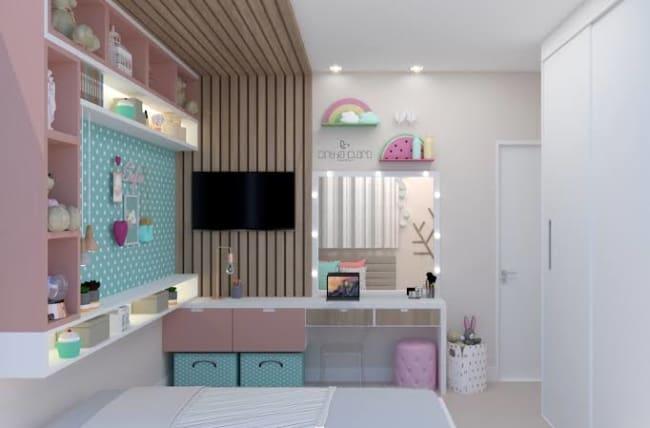 quarto infantil planejado feminino moderno