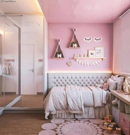 quarto infantil planejado feminino rosa