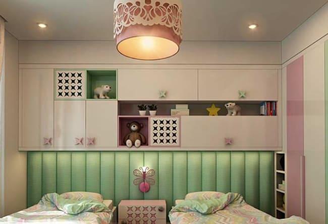 quarto infantil planejado pequeno colorido