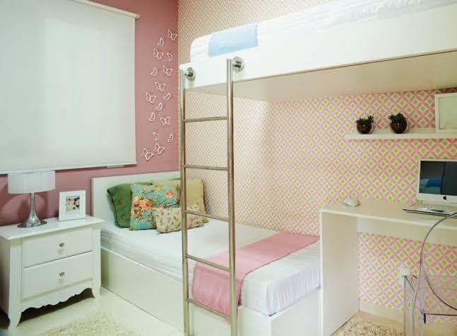 quarto infantil planejado pequeno com beliche