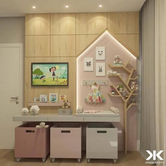 quarto infantil planejado pequeno decorado