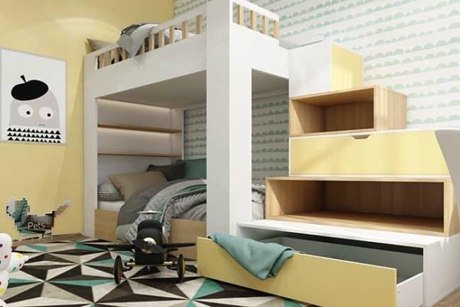 quarto infantil planejado pequeno moderno