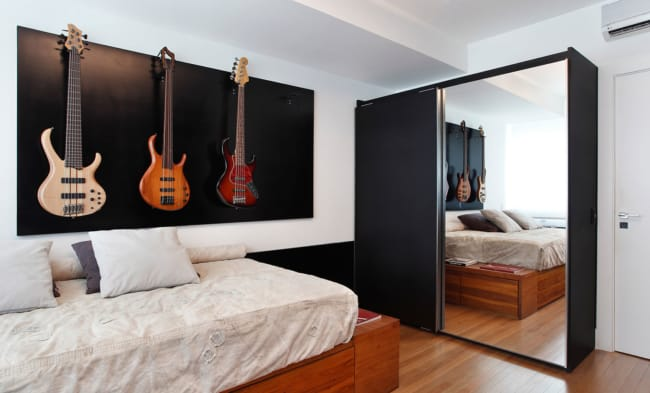quarto masculino decorado planejado