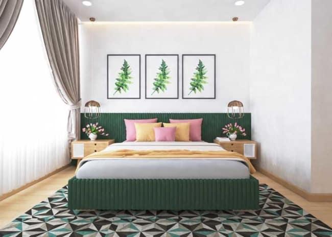 quarto verde musgo decoração