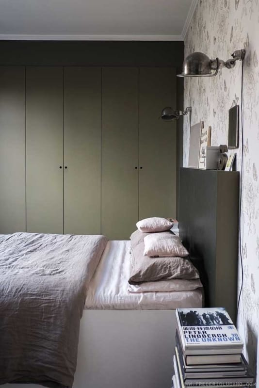 quarto verde musgo