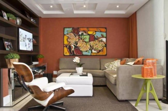 sala com cor terracota ideias