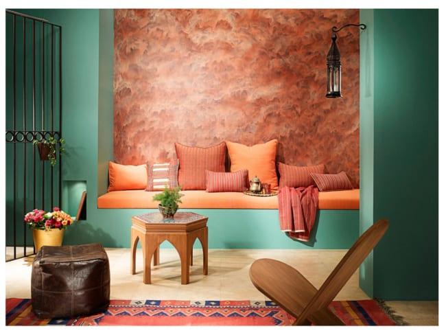 sala moderna com cor terracota