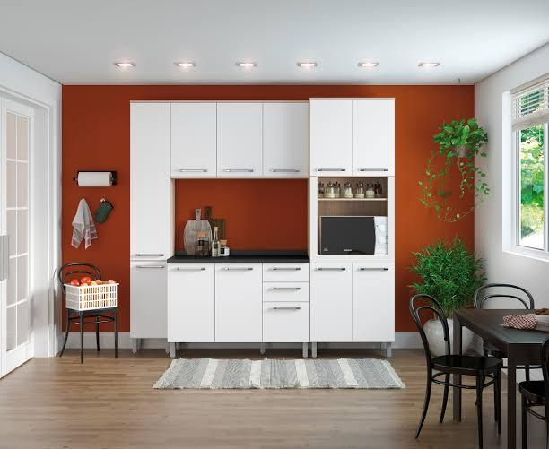terracota com branco na cozinha
