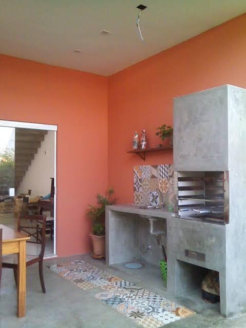 terracota na cozinha e varanda