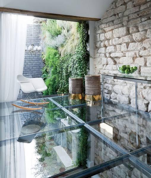 tipos de piso de vidro transparente