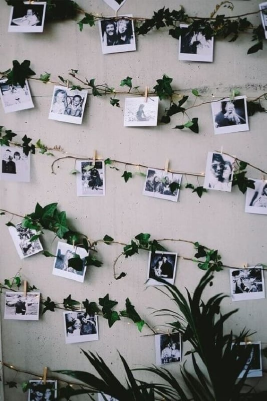 varal de fotos tumblr diy