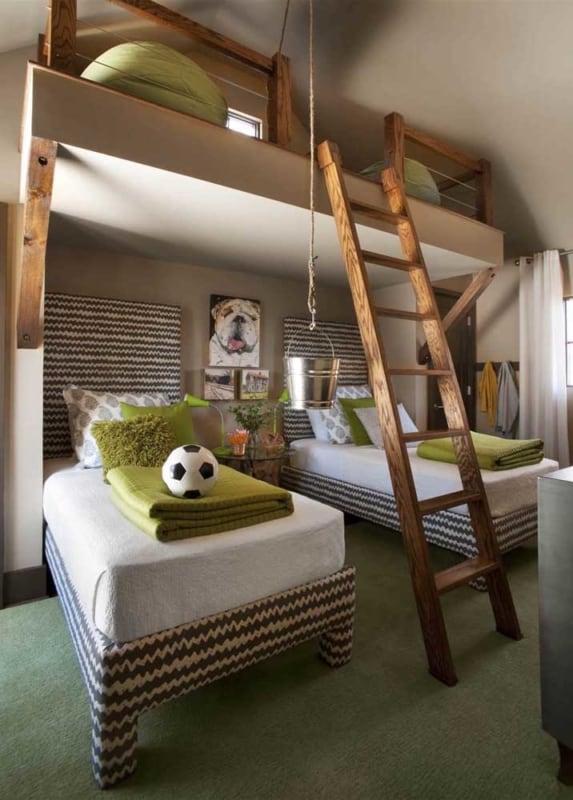 verde musgo em quarto