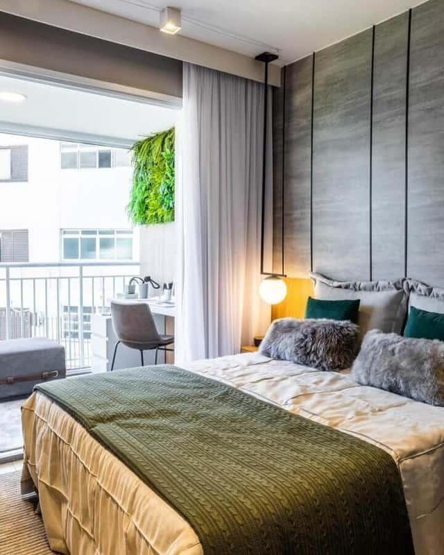 verde musgo em quartos