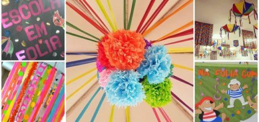 ideias decoração de carnaval para escola