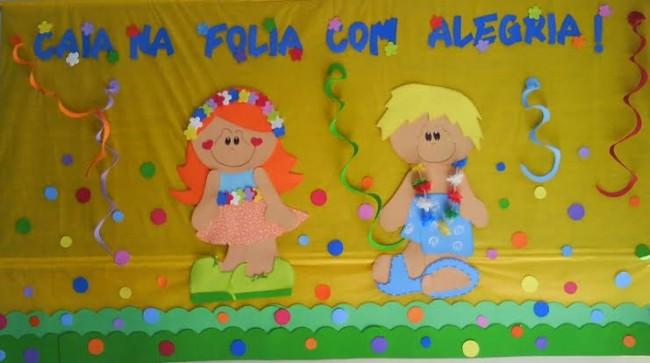 decoração de carnaval com EVA