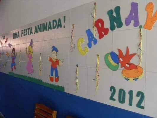 decoração de escola com EVA